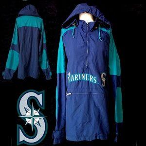 Authentic MLB vintage seattle mariners windbreaker